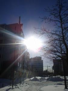 Aurinkoa Ruoholahdessa