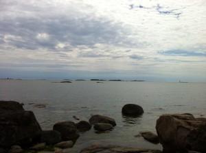 Merinäköalaa Helsingin Pihlajasaaresta viime heinäkuussa. Kuva Tiina Asula