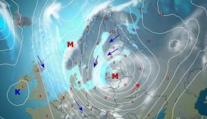 Itsenäisyyspäivän lumipyry tuo lunta Suomeen, Baltiaan ja Puolaankin.