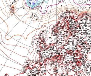 Kuva 3: Suomi oli 19.5. maanantaina yksi Euroopan lämpimimmistä maista. / ECMWF & Foreca