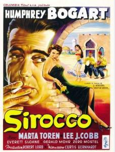 Elokuvan Sirocco juliste vuodelta 1951, lähde: www.imdb.com