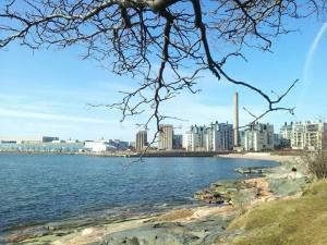 Kuva 4: Helsingin Eiranrannassa näytti jo kuun alkupuoliskolla sangen keväiseltä.