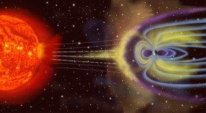 Oikeasti maapallo on aurinkoon nähden paljon, paljon pienempi! Kuva: NASA Public Domain.