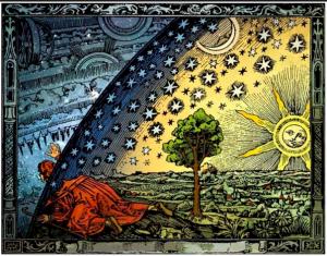 Kuvitusta astronomi Camille Flammarionin kirjasta L'Atmosphère, 1888.