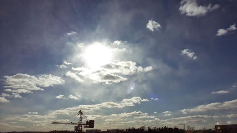 Kylmässä säässä pienetkin pilvet muuttuvat lumisateeksi