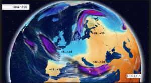 Länsi-Eurooppa viilenee ja Itä-Eurooppa lämpenee ensi viikolla.