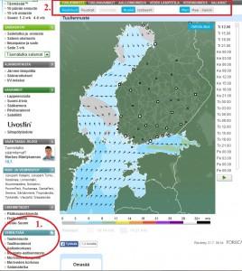 Veneilysää www.foreca.fi -sivustolla (kuva: Foreca)
