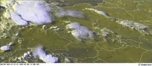 Kuva 2: Valtava MCS Saksan yllä heinäkuun alkupuolella (kuva: EUMETSAT)
