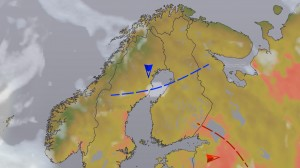 Kuva 8: Kylmä (lämmin) yläilmakehän rintama tai heikko kylmä (lämmin) rintama (kuva: MTV/Markus Mäntykannas)