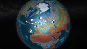 Ensi viikolla Pohjois-Atlantilta suuntautuu voimakas suihkuvirtaus kohti Fennoskandiaa. Atlantilla on kehittymässä useampia myrskymatalapaineita, jotka uhkaavat ainakin Brittein saaria, läntistä Skandinaviaa ja Pohjois-Saksaa (kuva: Markus Mäntykannas / MTV)