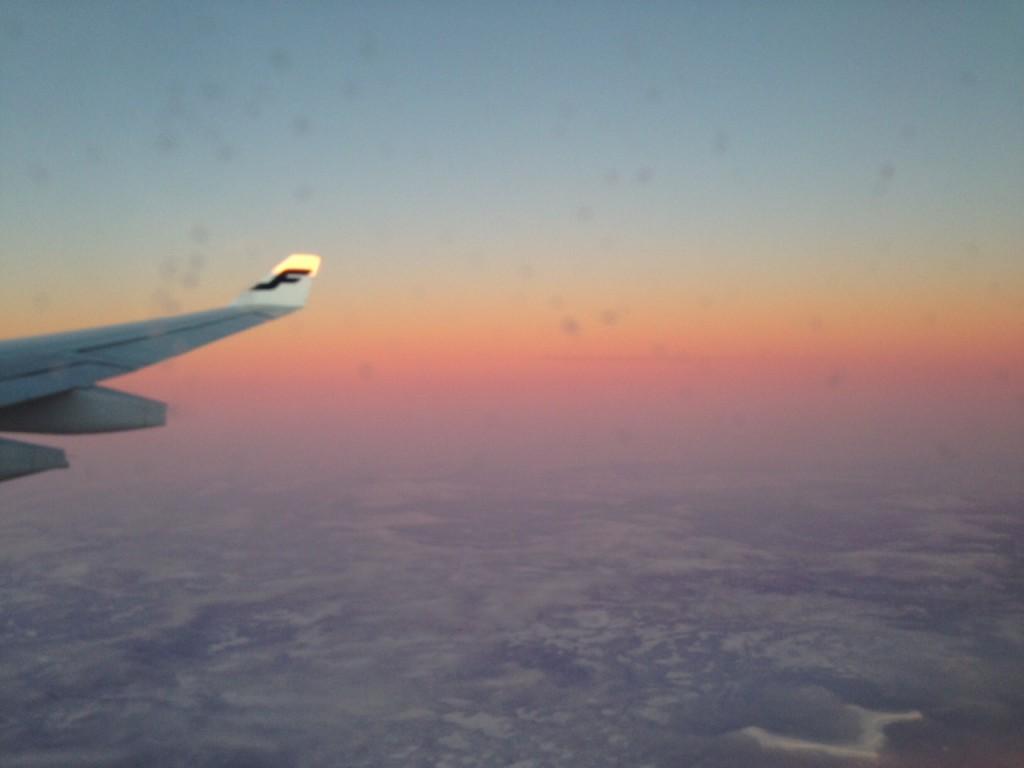Kaunis lentosää jossakin pohjoisen Venäjän yläpuolella (kuva: Joanna Rinne)