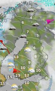 Kuva 3: Kuvitteellinen talvisääennuste vuosisadan lopulle (kuva: Markus Mäntykannas/MTV)