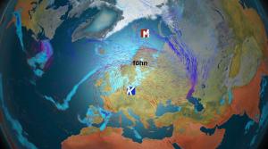 Kuva 1: Suurin osa Suomen talvisista lämpöhuipuista on syntynyt föhntuulen avittamina. Tämä suursäätila vallitsi myös 3.11.2015, kun uusi marraskuun lämpöennätys syntyi (kuva: Markus Mäntykannas/MTV)