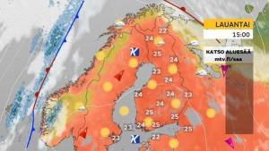Kuva 10: Elokuinen korkeapaine jämähti Suomen ylle tuoden lämpimät ja aurinkoiset säät (kuva: Markus M / MTV)