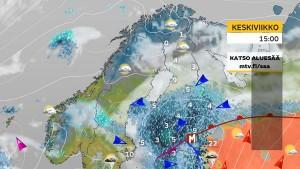 Kuva 4: Huhtikuun loppupuolella kesäiset ilmat käväisivät hyvin lähellä, mutta Suomi jäi toistuvasti kylmemmälle ja sateisemmalle puolelle (kuva: Markus M./MTV)