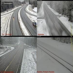 Kuva 5: Huhtikuun loppu oli vielä luminen osassa maata (kuva: Liikennevirasto)