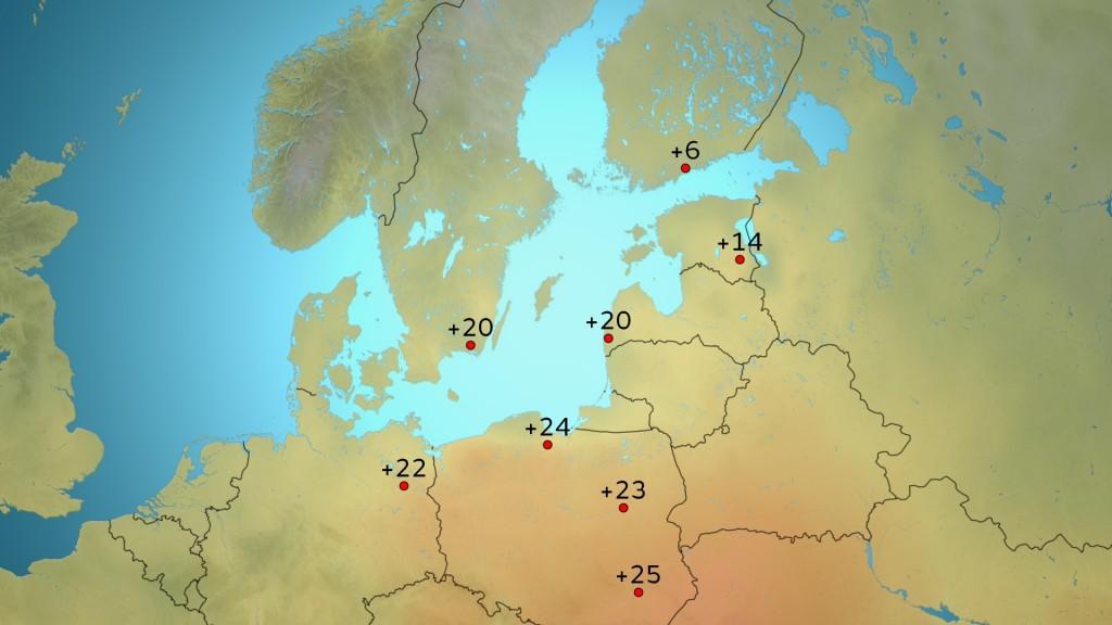 Ti 5.4.2016 Keski-Euroopassa mitattiin jo kesäisiä lukemia. Ruotsissa ja tiettävästi myös Latviassa rikottiin ensimmäistä kertaa tänä vuonna 20 asteen rajapyykki. /kuva Markus M. & MTV Uutiset