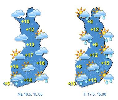 Maanantai ja tiistai (Kuva: Foreca)