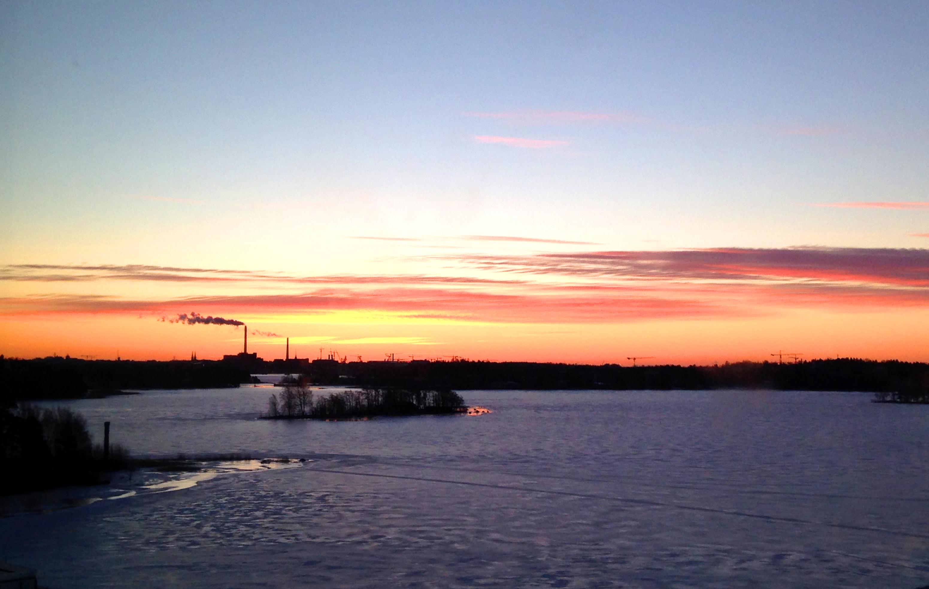 Auringonnousut näkyvät etenkin talvisaikaan hienosti! (Kuva: Joanna Rinne)