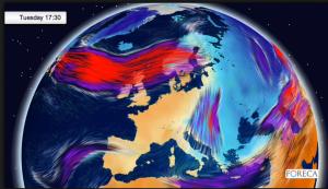 Lämpimämpi ilmamassa kurottautuu kohti Suomea alkuviikolla. Länsi-Eurooppa lämpenee tuntuvasti.