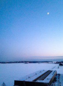 Tammikuinen maisema Forecan toimiston ikkunasta (Kuva: Joanna Rinne)