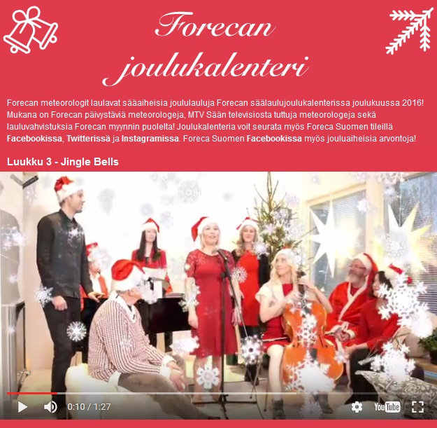 Forecan joululaulukalenterin Jingle Bells -luukku